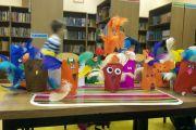 Dzieciaki ze świetlicy w bibliotece