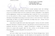 List do Uczniów i Uczennic z okazji zakończenia roku szkolnego 2017/2018