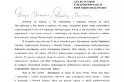 List do uczniów z okazji rozpoczęcia roku szkolnego 2014/2015 od Rzecznika Praw Dziecka